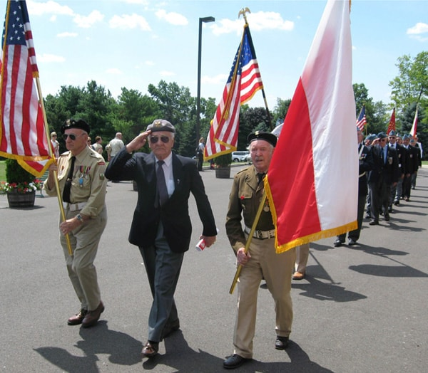 Polish Veterans mark Polish Soldier's Day at the Shrine of Our Lady of Czestochowa, Doylestown, PA.