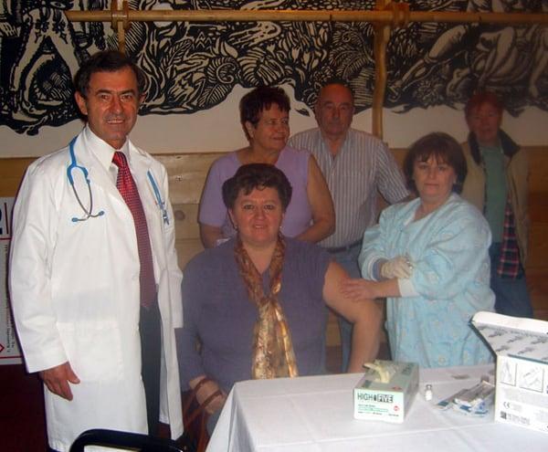 Szczepienia przeciw grypie w Domu Podhalan. 17 listopada 2008