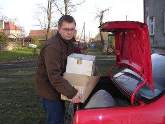 Rozdawanie darow na Ukrainie