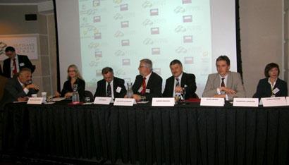 S. Ciemnoczolowski (Lubuskie Vice Marshal); M. Korzistka; I. Bochenska (IL Trade Office); J. Sebesta (Opolskie Marshal); K. Szymanski (Lubuskie Marshal); M. Ormaniec (Silesia Vice Marshal); A. Jarubas (Swietokrzyskie Marshal); A. Sobieszek (Lodz SEZ).