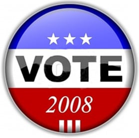 Vote 2008 Election sign