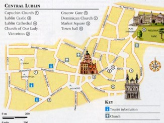 Map of Old Town Lublin