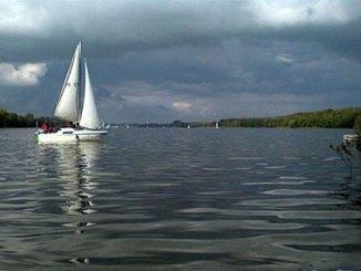 A boat on Jezioro Kierskie