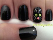 black cat nail design polishpedia