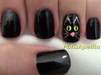 Black Cat Nail Design | Polishpedia: Nail Art | Nail Guide ...