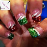 Sparkly Christmas Nails | Polishpedia: Nail Art | Nail ...