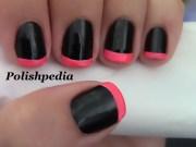 neon pink french tip nails polishpedia
