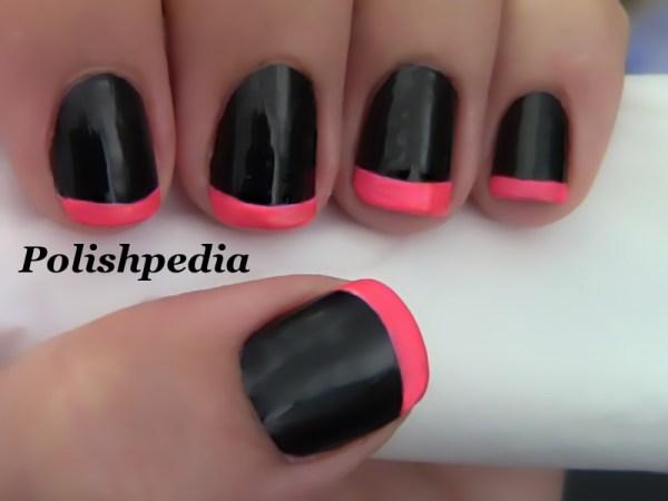 Neon Pink French Tip Nails Polishpedia Nail Art Nail