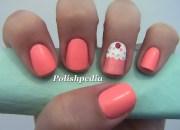 pink cupcake nail art polishpedia