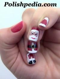 Santa Claus Nail Art | Polishpedia: Nail Art | Nail Guide ...