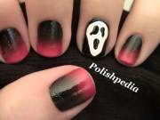 scream halloween nail art polishpedia