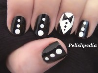 Tuxedo Nail Art | Polishpedia: Nail Art | Nail Guide ...
