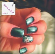 elegant christmas snowflake nails