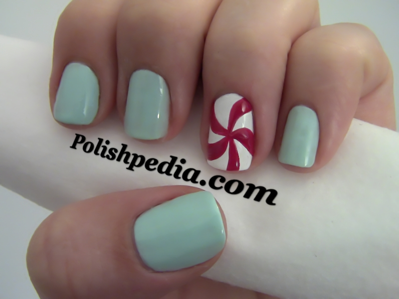 Peppermint Candy Nail Art
