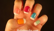 colorful funky french nails polishpedia