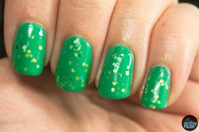 nails, nail polish, indie, indie polish, live life polished, hey darling polish, green, mean green