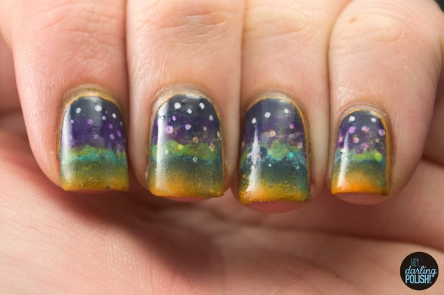 nails, nail art, polish, nail polish, night sky, nail art a go go, hey darling polish