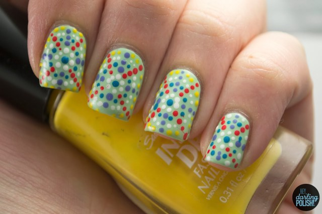 nails, nail art, nail polish, polish, nail art a go go, pointillism, dots, dotticure, hey darling polish