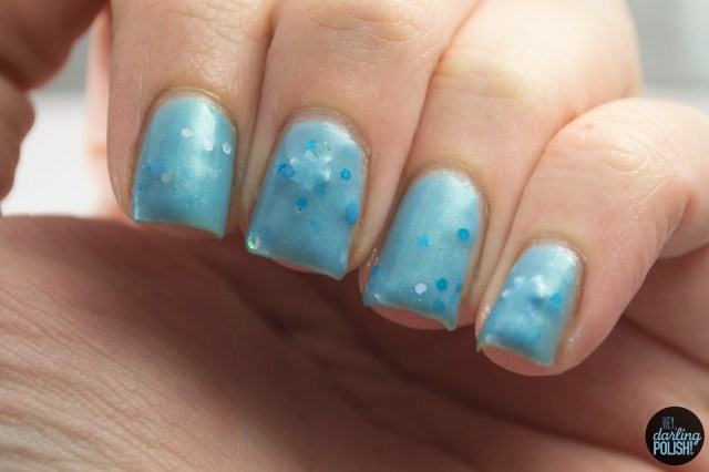nails, nail polish, polish, indie, indie polish, coated in polish, let it snow, blue, hey darling polish