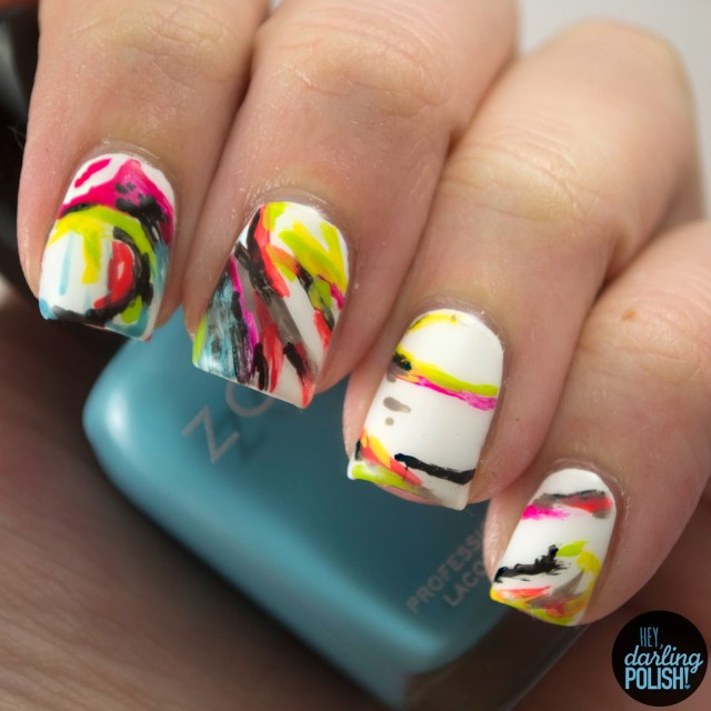 nails, nail art, nail polish, polish, hey darling polish, music monday, ivory,
