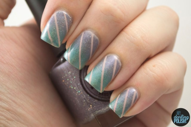 nails, nail art, nail polish, polish, gradient, teal, purple, pink, hey darling polish, indie, indie polish, indie nail polish, squishy face polish