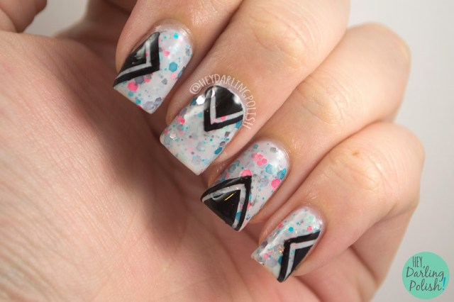 Nails, Nail Art, Nail Polish, Polish, Indie, Indie Polish, KBShimmer, Hey Darling Polish, The Never Ending Pile Challenge, Chevrons
