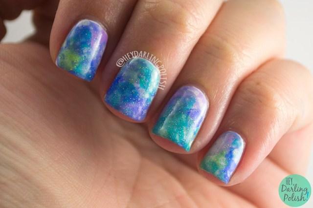 nails, nail art, nail polish, watercolor, watercolor nails, hey darling polish, the nail challenge collaborative