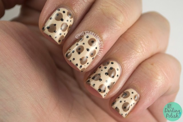 nails, nail art, nail polish, polka dots, dots, vintage, retro, hey darling polish, oh mon dieu part deux