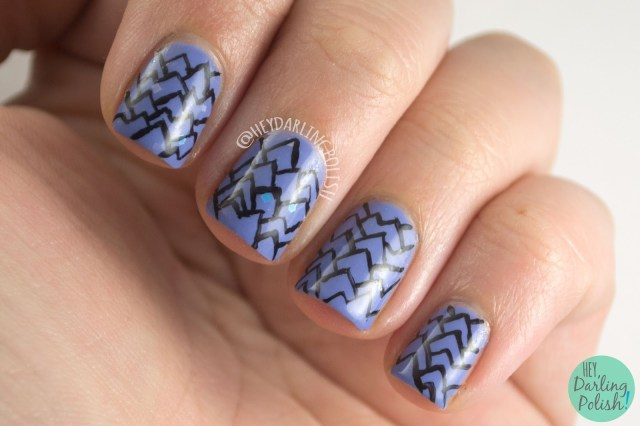 nails, nail art, nail polish, indie polish, mountains, graphic nail art, hey darling polish, oh mon dieu part deux