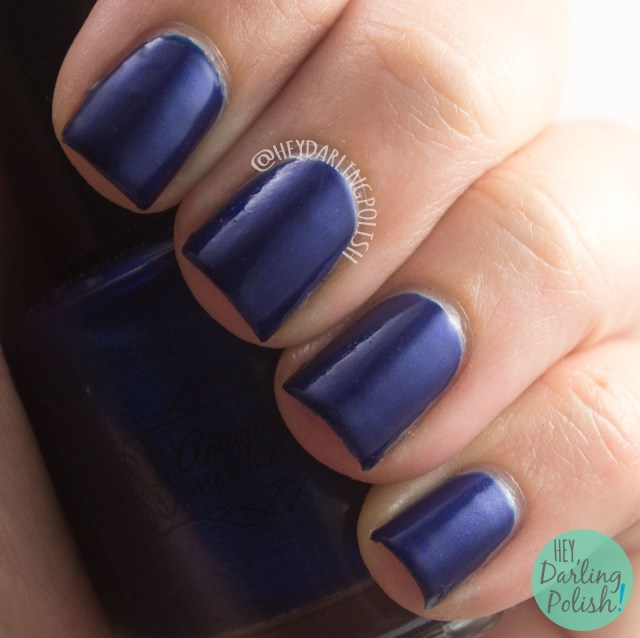 blue, navy, school uniform, creme, hey darling polish, amazing chic nails, swatch, review, nails, nail polish, indie, indie polish, indie nail polish