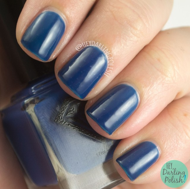blue, amelia, crelly, luxe lacquers, august, subscription box, indie, indie polish, swatches, hey darling polish