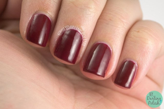 red, maroon, josette, luxe lacquers, august, subscription box, indie, indie polish, swatches, hey darling polish