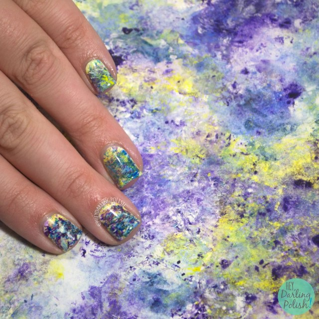 nails, nail art, nail polish, hey darling polish, art, painting, abstract, 31 day challenge, 31dc2014
