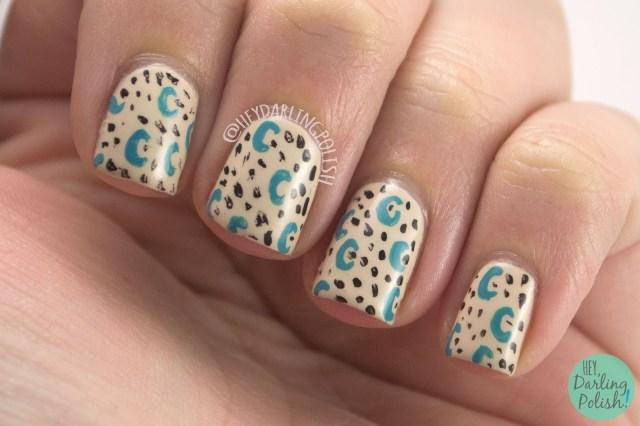 nails, nail art, nail polish, hey darling polish, pattern, 31 day challenge, 31dc2014