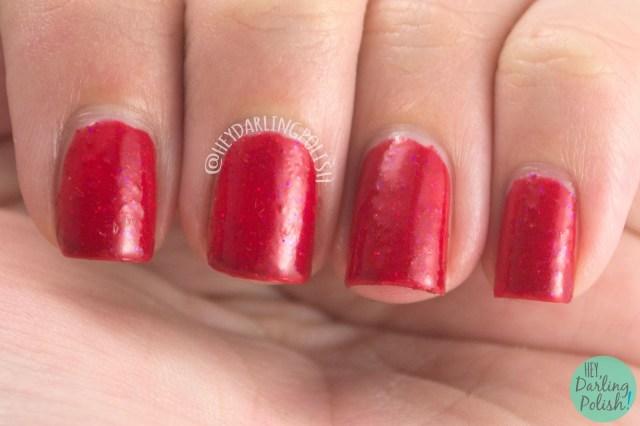 red, ginger, nails, nail polish, polish, indie nail polish, indie polish, nvr enuff polish, nvr enuff, spice world, spice girls, hey darling polish, swatch,