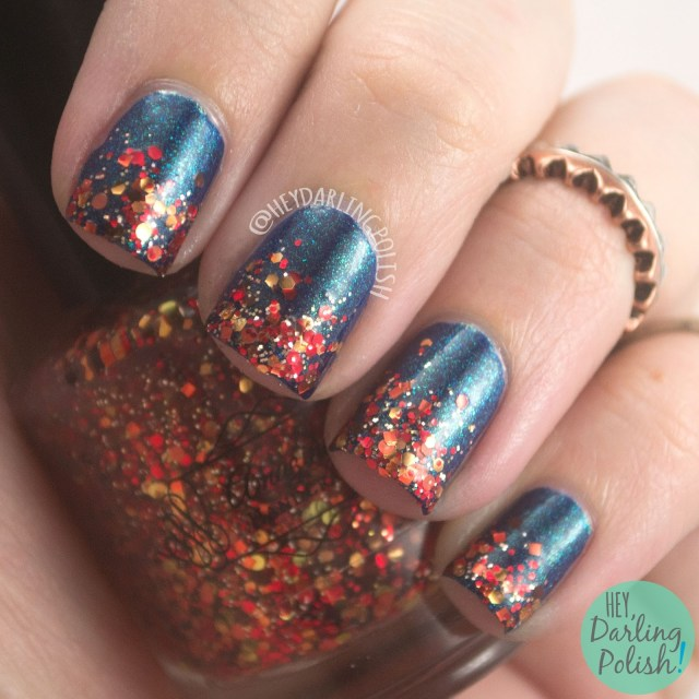 zoya remy, glitter, glitter gradient, amazing chic nails, falling leaves, nail art, nails, nail polish, hey darling polish, fall favorites, hobby polish bloggers,