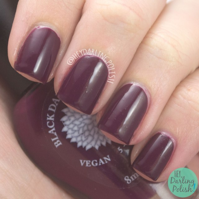 nails, nail polish, hey darling polish, fall favorites, hobby polish bloggers, indie polish, black dahlia lacquer, cream, wine