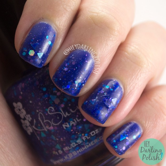 fallen angle, swatch, blue, triangles, nails, nail polish, indie nail polish, indie polish, kbshimmer, hey darling polish, winter 2014 collection