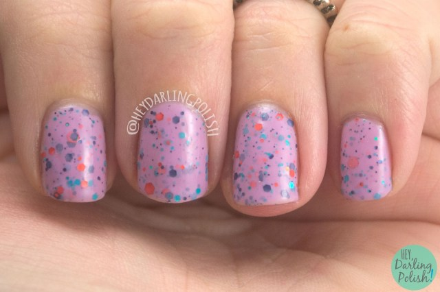 mauve on over, nails, nail art, nail polish, indie nail polish, indie polish, kbshimmer, hey darling polish, swatch, review, purple, glitter,