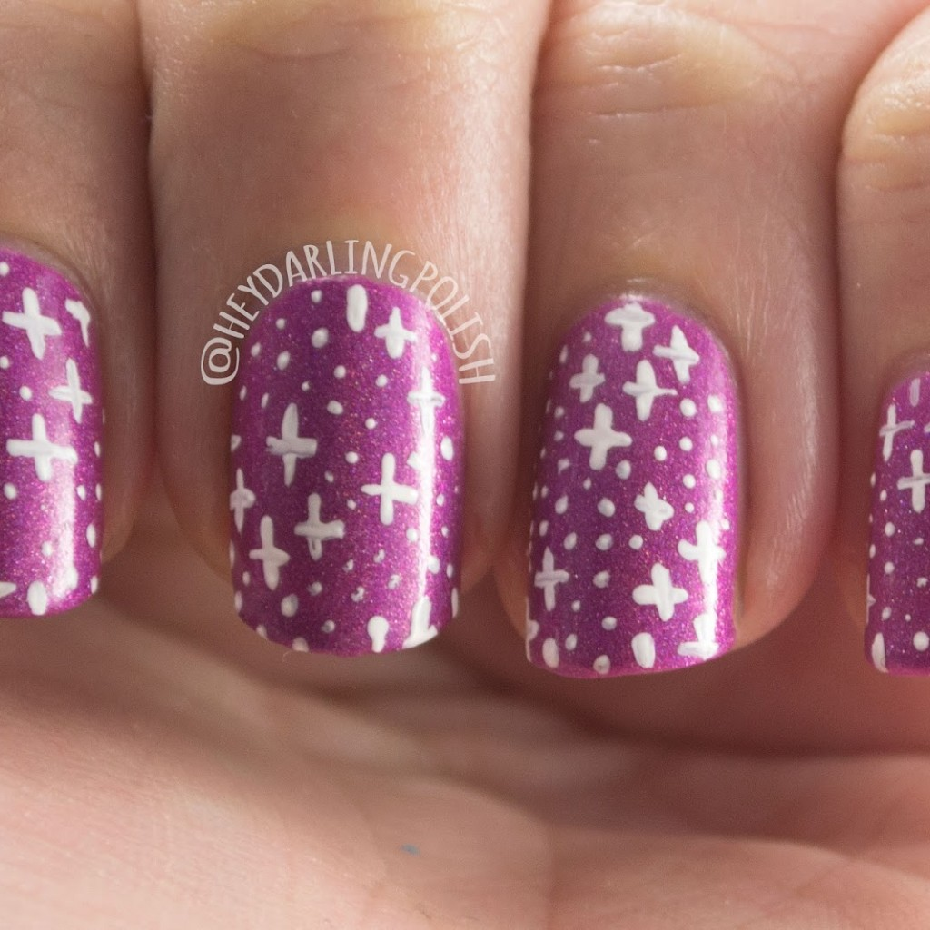 Ice Polish - Valentine\'s Day + Mardi Gras Nail Art • Polish Those Nails