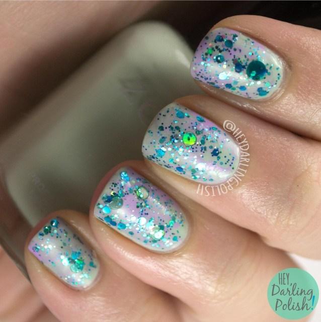 nails, nail art, nail polish, glitter, hey darling polish, glitter. indie polish, blobs,