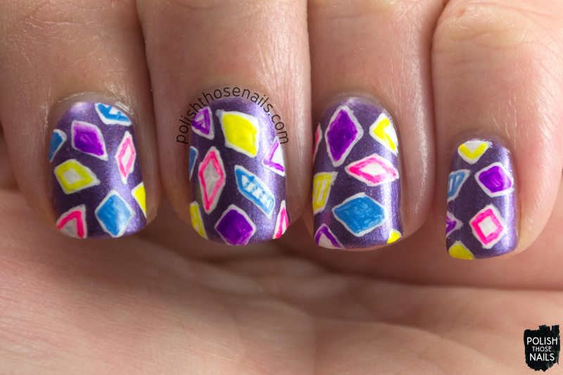 choppin, purple, shimmer, parallax polish, indie polish, secience collection, science, nail art