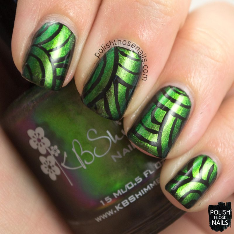 urban camo, nail art, multi chromes, lines, stripes, kbshimmer, nail polish, indie polish, polish those nails,