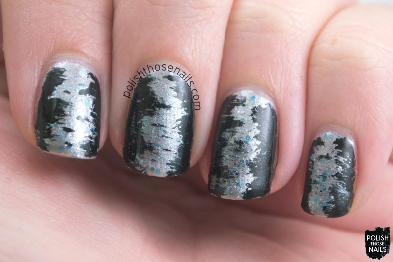 nails, nail art, nail polish, silver, polish those nails, oh mon dieu 3, indie polish