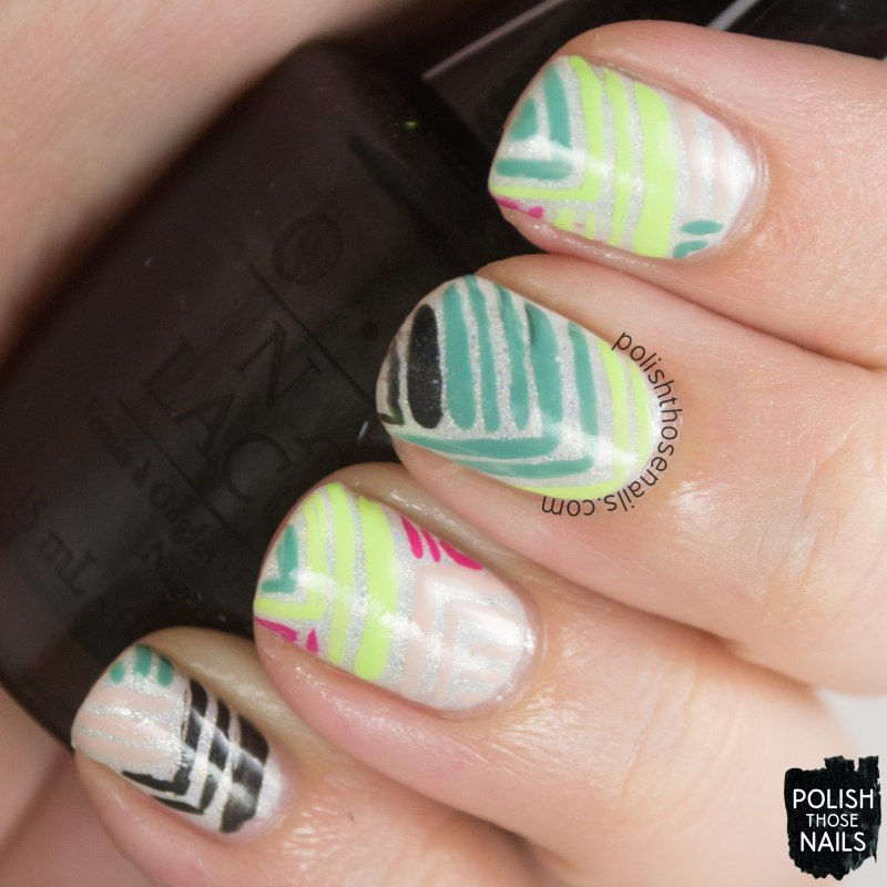 Concrete And Nail Polish Striped Nail Art: Summertime Stripes • Polish Those Nails