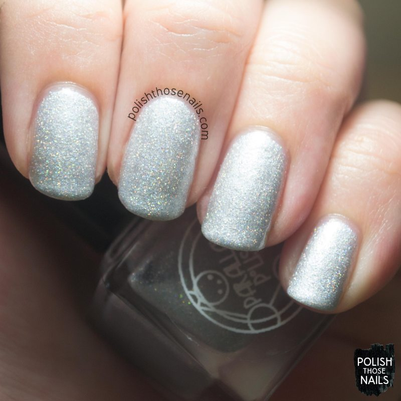 silver, holo, nystagmus, nails, nail polish, indie, indie polish, indie nail polish, parallax polish, polish those nails, swatch