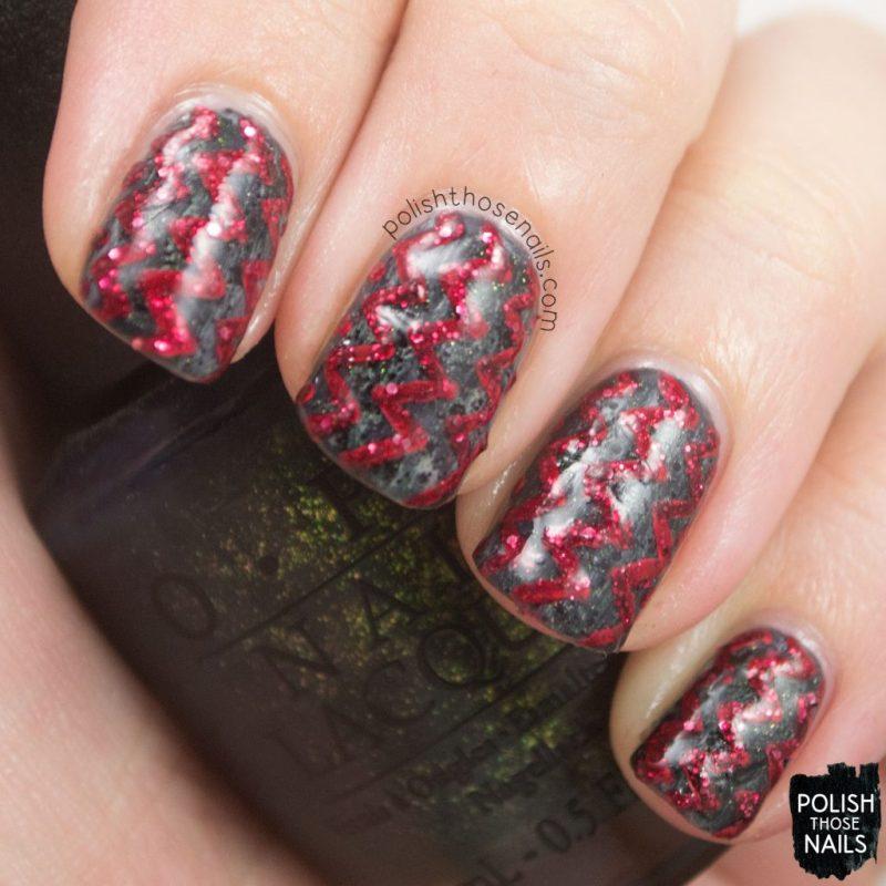 nails, nail art, nail polish, dark, zig zags, polish those nails,