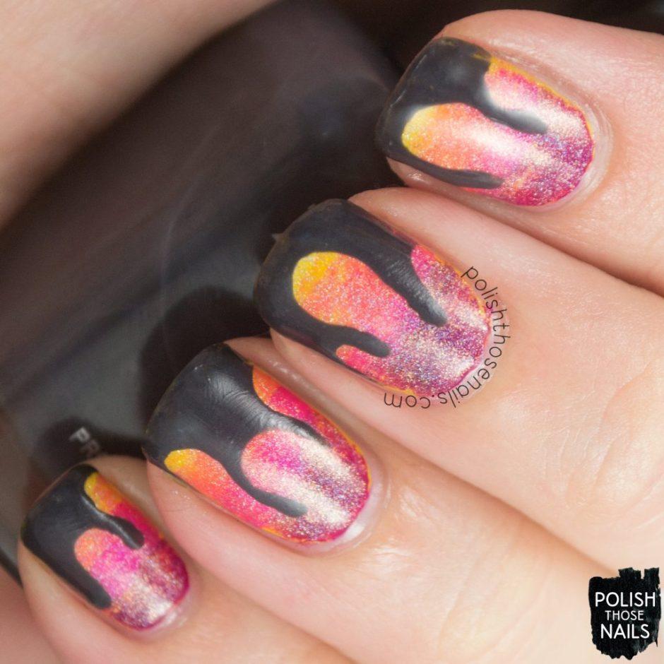nails, nail art, nail polish, gradient, drips, polish those nails,