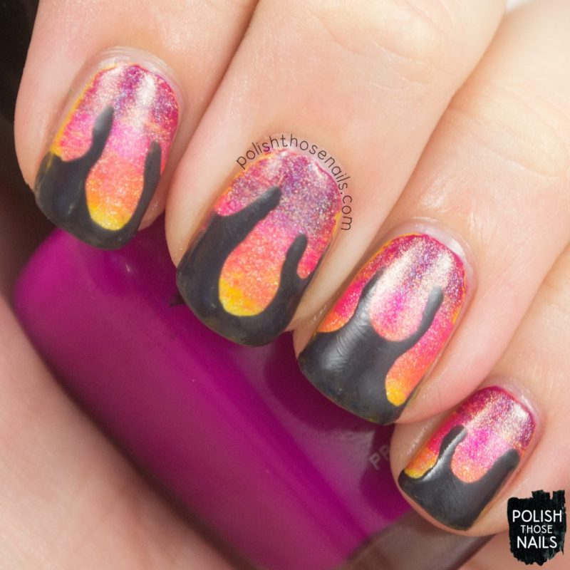 nails, nail art, nail polish, gradient, drips, polish those nails,