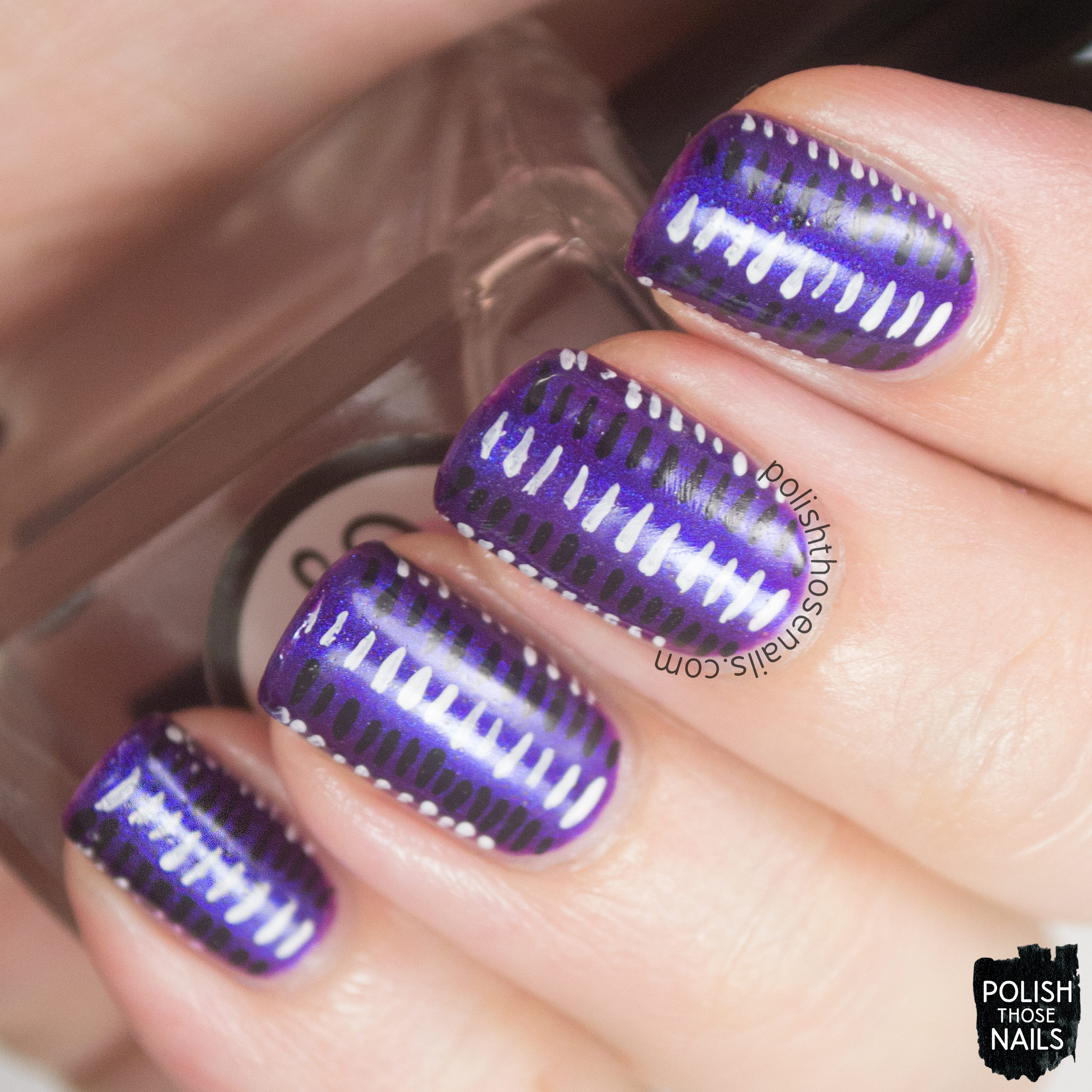 Concrete And Nail Polish Striped Nail Art: Stripes • Polish Those Nails
